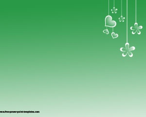 Free Simple Powerpoint Template with green background color
