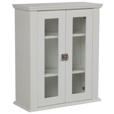 Home Decorators Collection Lamport 22 in. W Surface-Mount Over John Storage Cabinet in White-BHOJ22COM-WH at The Home Depot