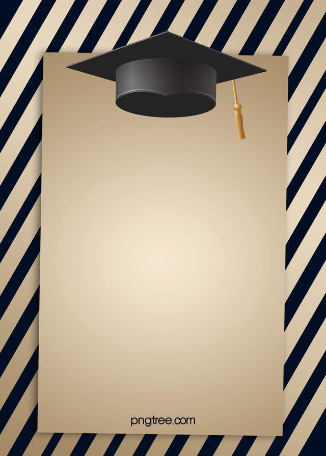 Fundo De Bone De Formatura Listra Preta E Dourada Graduation Frame Graduation Cap Graduation Images