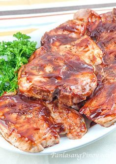 Barbecue pork chop recipes in oven