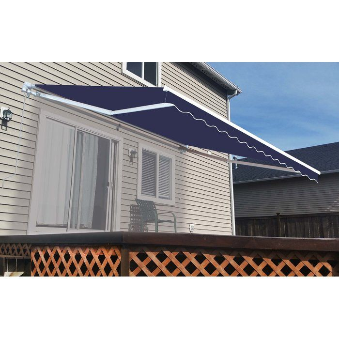 Fabric Retraction Slope Standard Patio Awning In 2020 Patio Awning Patio Blue Patio