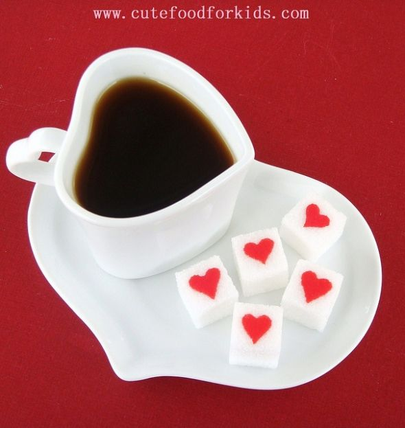 Sweet Valentineu0027s Day Recipes: Amazing And Easy Heart Sugar Cubes.