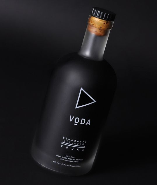 "Designed by Maas Design | Country: United States  ""Bottle and identity design for VODA – a series of flavor infused vodkas."