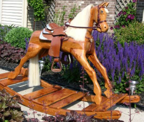 wooden rocking horse hand carved future pinterest rocking horses and hand carved. Black Bedroom Furniture Sets. Home Design Ideas