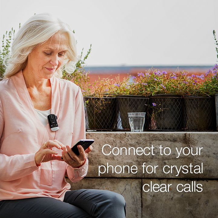 One of the things you notice when you begin to lose your hearing is that phone calls are a little bit harder. ReSound's Phone Clip+ changes all that.   Simply clip on the Phone Clip+ and you are ready to take calls. With one push of a button you'll hear the caller's voice, crystal clear, in your hearing aids, even if you're in a busy street.  Visit resound.com/en-AU/hearing-aids/accessories