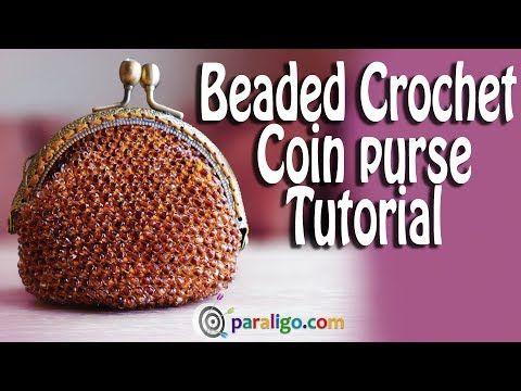 (18) Crochet Tutorial Beaded Coin Purse - YouTube