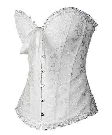 06dfd65756f Another great find on  zulily! White Brocade Lace-Up Corset ...