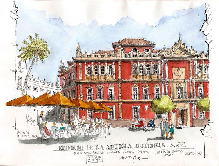 Edificio de la antigua Audiencia (Sevilla), by Alfonso García