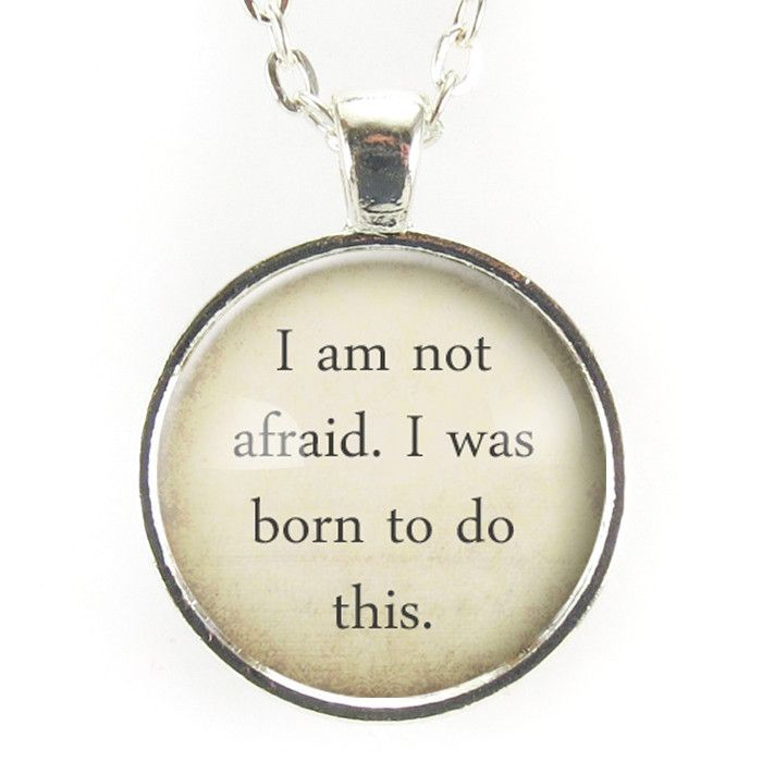 Joan Of Arc Quote Necklace
