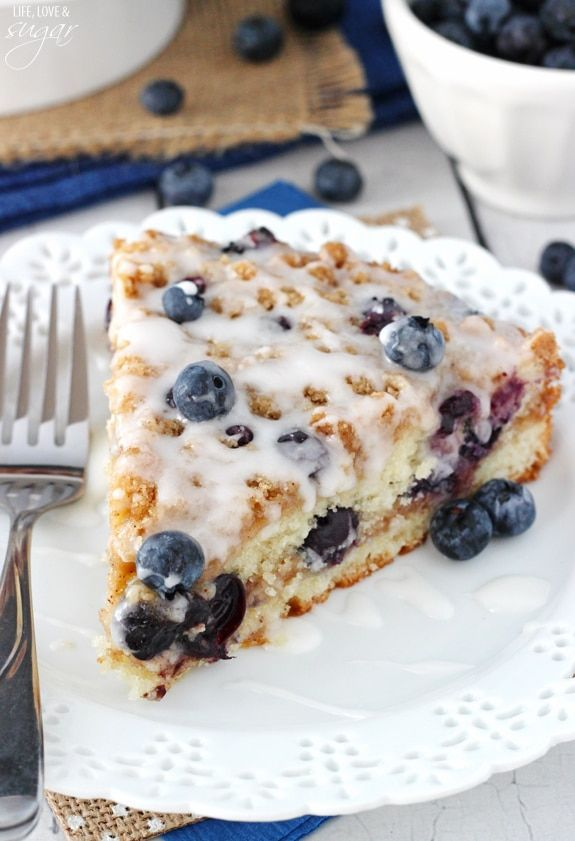This Blueberry Streusel Coffee Cake is the perfect breakfast or snack! It is wonderfully moist, cinnamon-filled and full of blueberries!