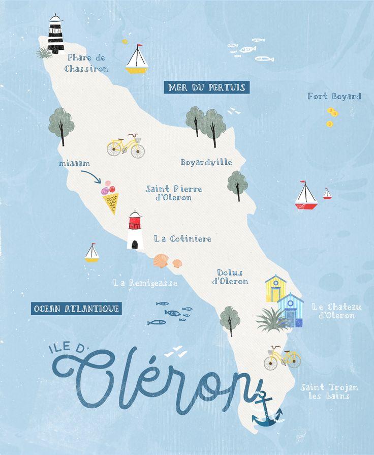 Leaf • L'île d'Oléron en 10 plaisirs simples - Carte de l'île d'Oléron - Charente-Maritime