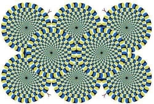 This illusion invented Japanese psychiatrist Akioshi Kitaoka. He argues that the illusion is fixed for a calm, balanced and relaxed people. If the illusion is actively moving, you need to rest and sleep for 8 hours. Well, if the illusion is very fast moving, then you urgently need a vacation … in the hospital. So, … … Continue reading →