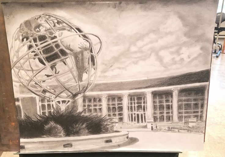 Hall Of Heroes - Charcoal 18x24cm ( Collin County Community College)