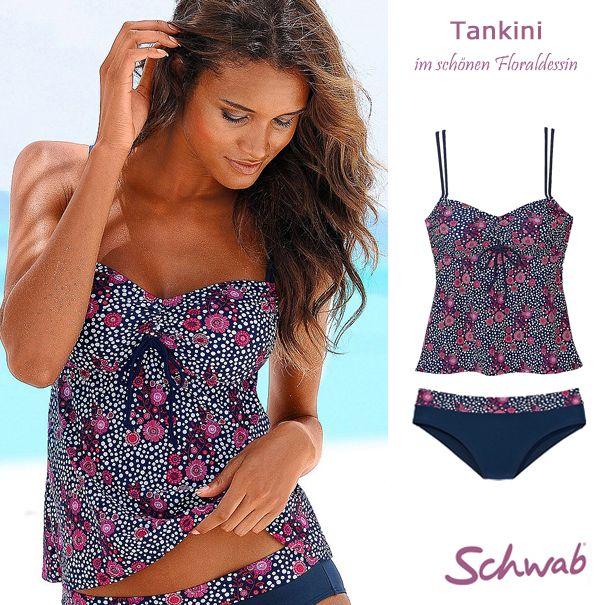 Blumiger #Tankini und weitere wunderschöne Zweiteiler laden zum Träumen von Sommer, Sonne, Strand und Meer ein.