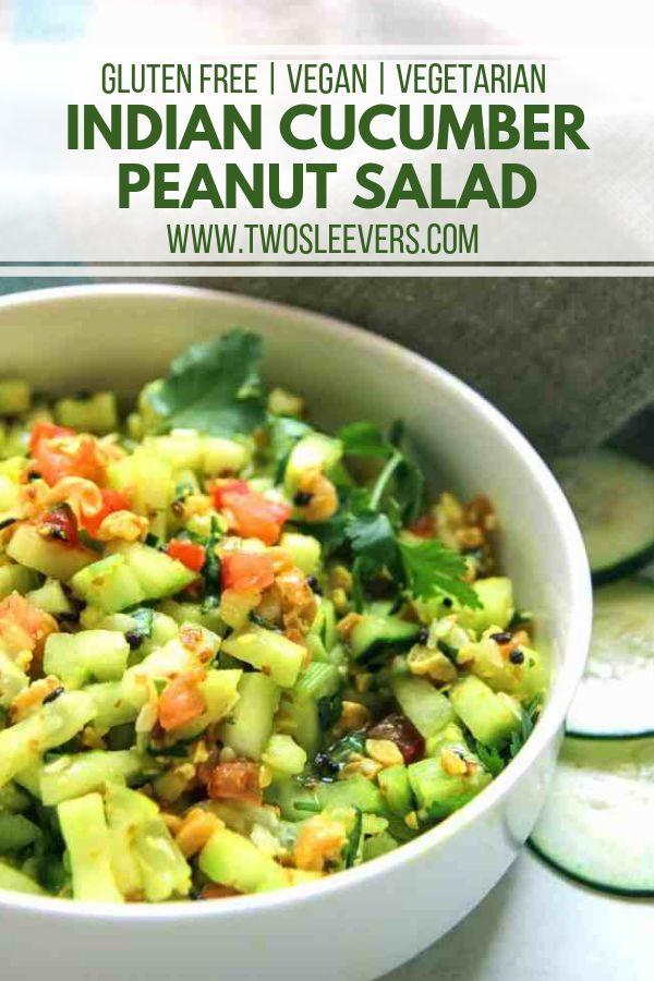 Indian Cucumber & Peanut Salad Kakadi chi Koshimbi…