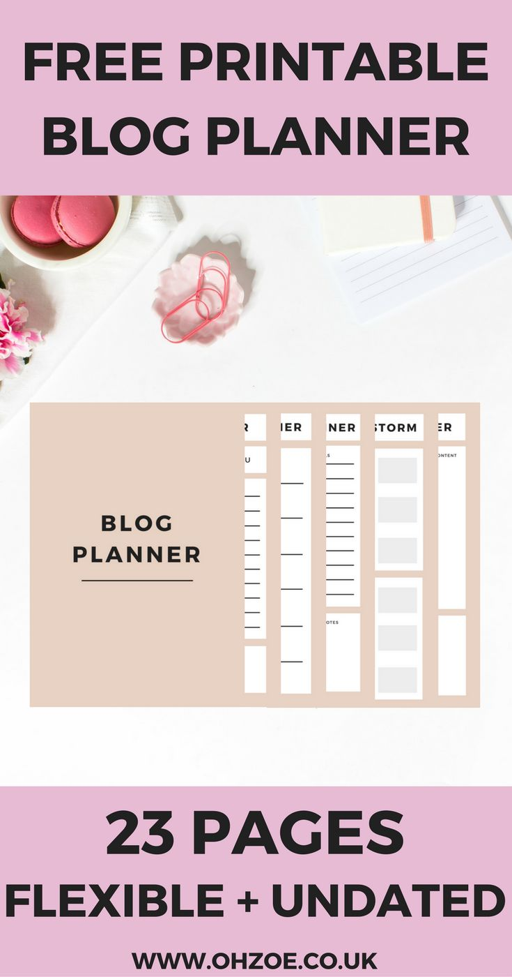 A free blog planner for all your blogging needs. Organise your blog like a pro with this 23 pages, printable planner for content, income, expenses and more. #blogging #blogplanner #bloggerlife #bloggingtips #bloggingadvice