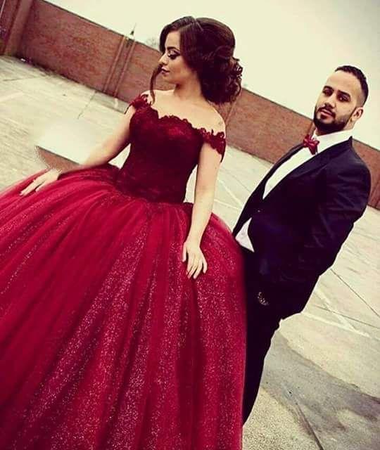 Vestidos guindas ampones 1
