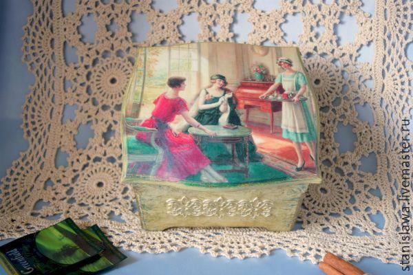 """Купить Чайный короб """"Чаепитие"""" - комбинированный, для чая, для чайных пакетиков, для чаепития, для чайной церемонии, для кухни"""