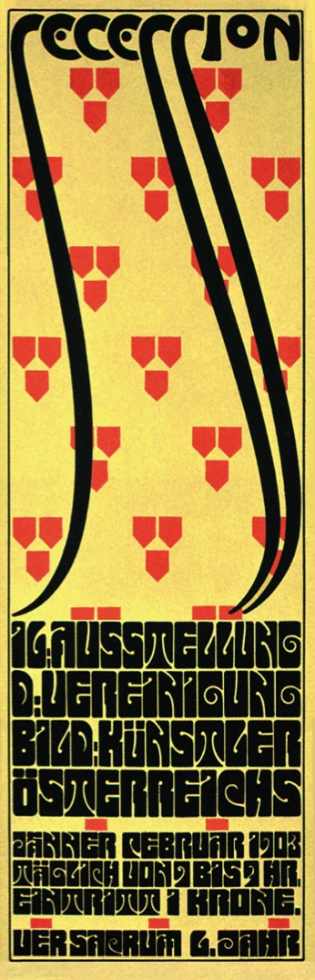 VIENNA SECESSION designer Alfred Roller was a precursor to Wes Wilson and other designers of the 60s who adapted this turn-of-the-century style.