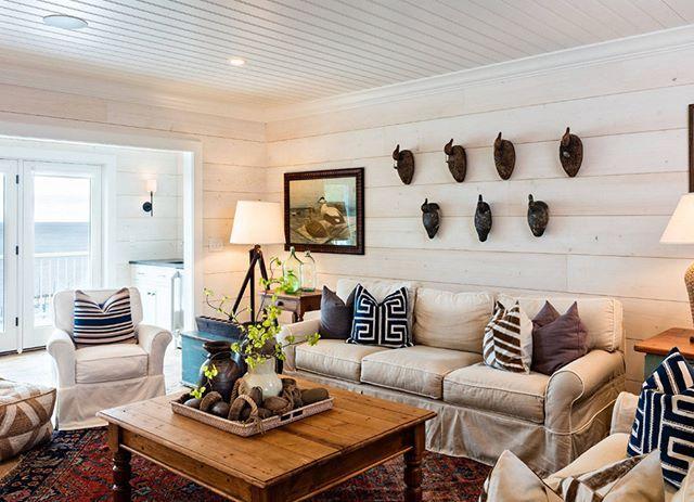 Deniz evi stili oturma odası dekorasyonu. Ferah ve işlevsel.  #dekorasyon #oturmaodası