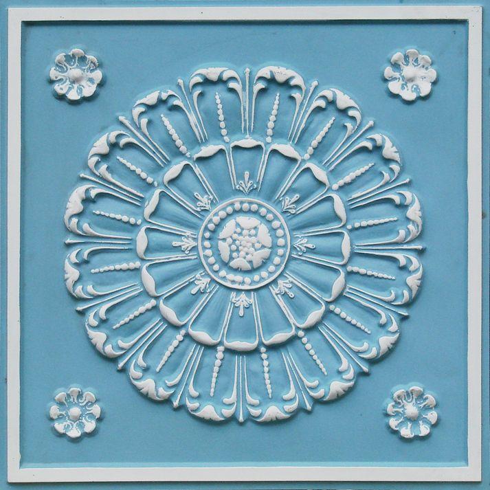 "Decorative Ceiling Tiles, Inc. Store - Aegean Seashell - Faux Tin Ceiling Tile - 24""x24"" -"