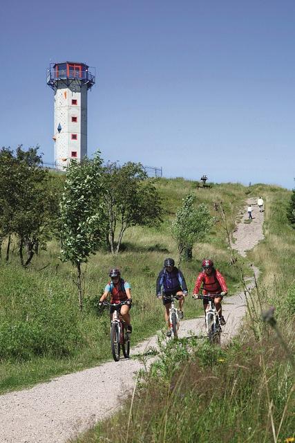 Mountainbiken am Rennsteig. Thüringer Wald, Deutschland. by oberhoftourismus, via Flickr