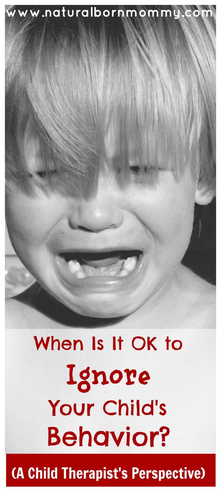 Do you want to get your kid to listen to you better? As a child therapist, I learned that it is OK to ignore your child's behavior at times.  It can really help to improve your child's behavior when done correctly and is especially effective on behavior problems like temper tantrums, stomping, screaming, yelling, and mean statements.  Check out this post to see when it is OK to ignore your child's behavior.