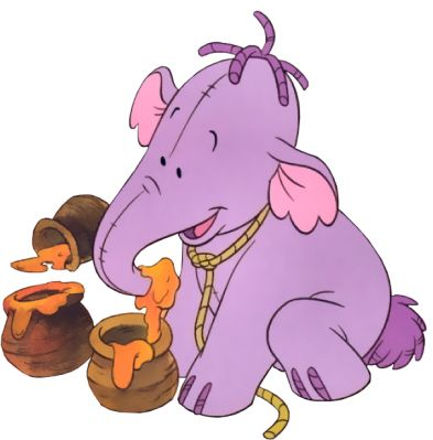 Lumpy the Heffalump.   Eeeeee! This is what we want to decorate our baby room with. Heffalumps and woozles. @Leigholson