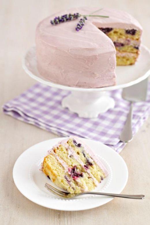 Blueberry & Lavender Cake Recipe