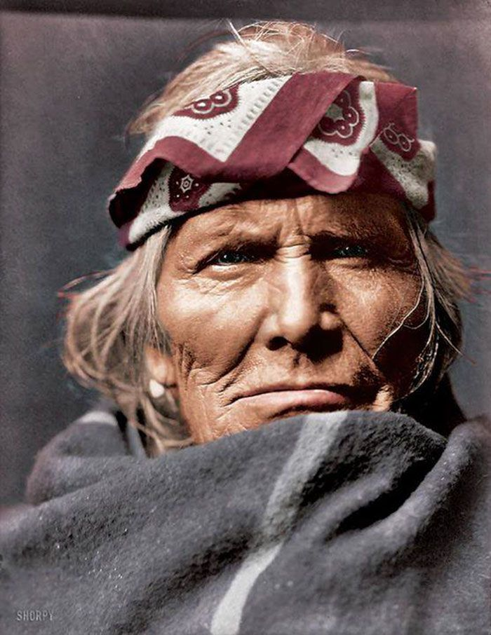 Si Wa Wata Wa. A Zuni Elder. New Mexico. 1903. Photo By Edward S. Curtis | 15+ Rare Colour Photos Of Native Americans From The 19th And 20th Century