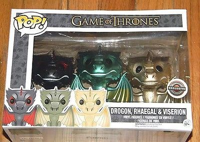 New Funko Game of Thrones 3 Dragons Drogon Rhaegal Viserion Gamestop Exclusive