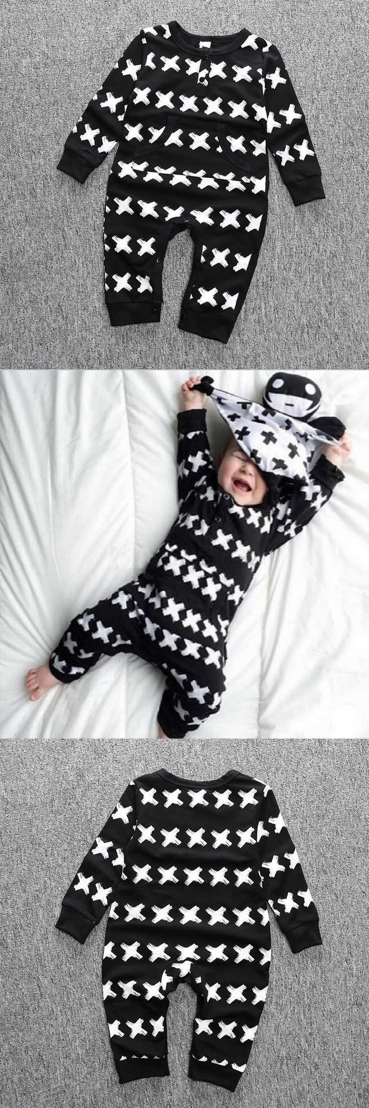 Newborn Baby Boy Girl Clothes Long Sleeve Cartoon Printed Jumpsuit Baby Romper Bebek Giyim Christmas Similar Carter Clothing 014