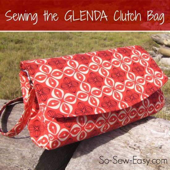 Video tutorial for how to sew the GLENDA Convertible Clutch bag from Swoon Patterns.