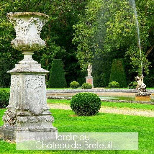 Situés au cœur du Parc naturel de la Vallée de Chevreuse dans les Yvelines, les jardins du domaine d... - Breteuil Fabrice Milochau