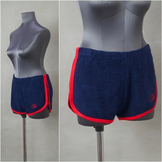 Vintage Shorts, 1970 'Deadstock' Frottee Shorts, Damen Sweat