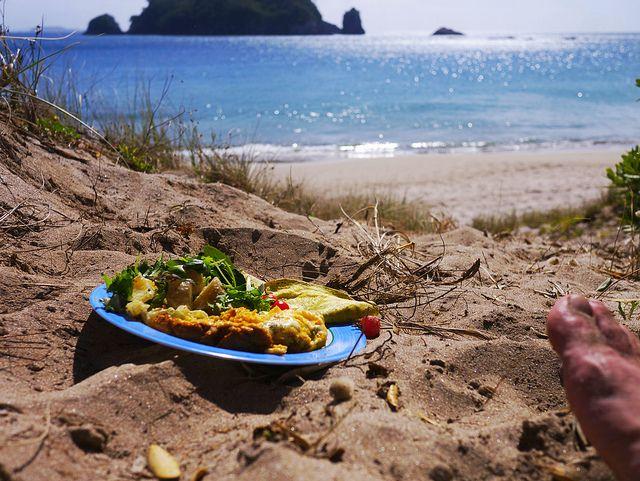 Hahei hot water beach breakfast | Flickr - Photo Sharing!