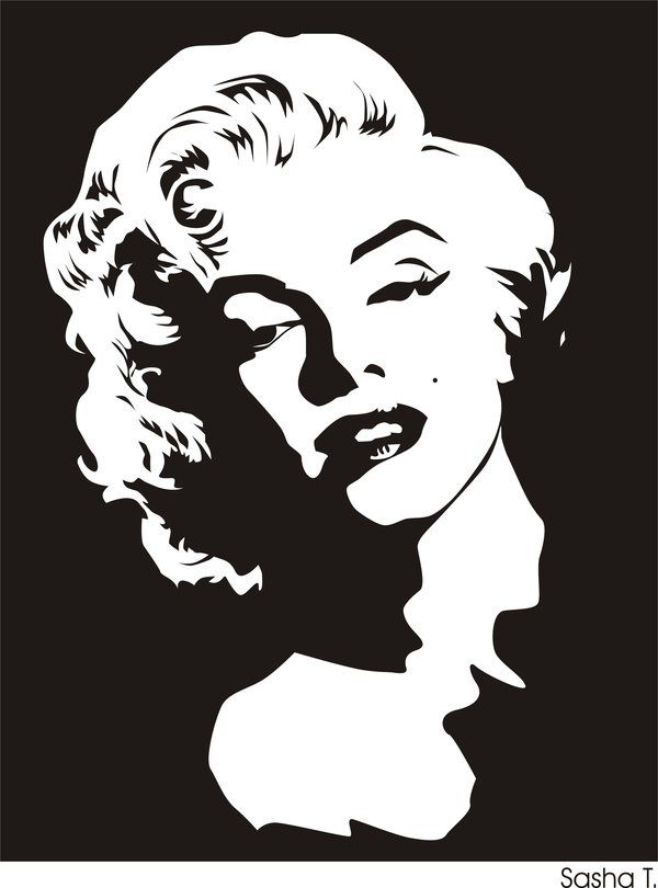 Marilyn Monroe by ~SashaZombie on deviantART | This image first pinned to Marilyn Monroe Art board, here: http://pinterest.com/fairbanksgrafix/marilyn-monroe-art/ ||
