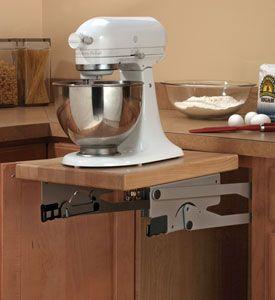 Kitchen Cabinet Appliance Lift Hardware. This custom cabinet hardware ...