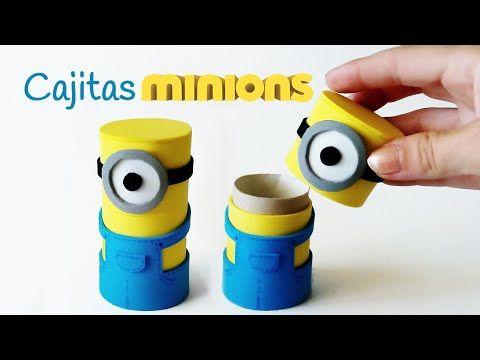 Manualidades: Cajitas MINIONS con tubos de cartón - Innova Manualidades - YouTube
