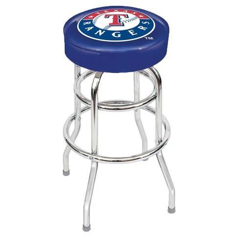 Texas Rangers Backless Swivel Sports Bar Stool