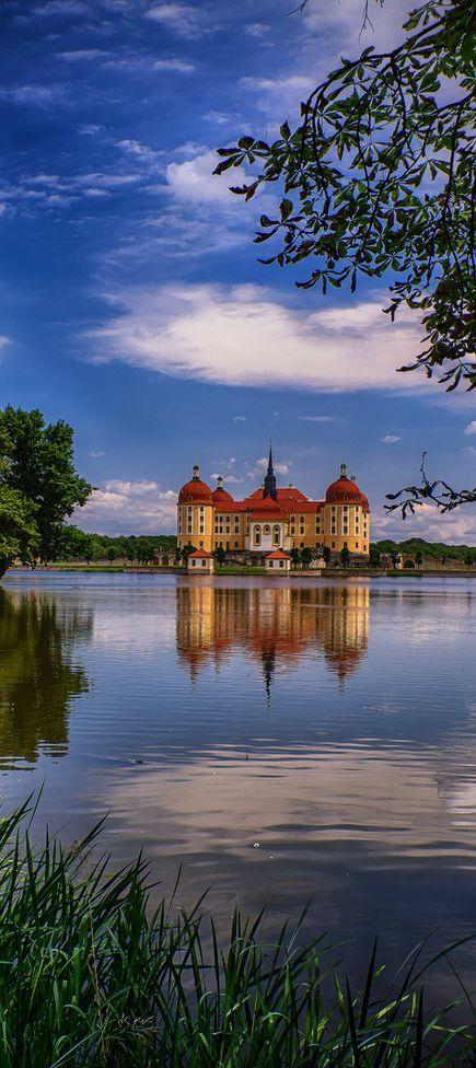 Schloss moritzburg in Deutschland Sachsen bei Dresden / Meißen
