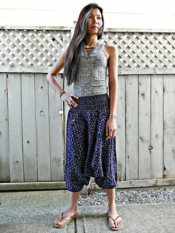 Blue Colour Short Harem Pants #fashion #shopping #harempants #joggers #style #love