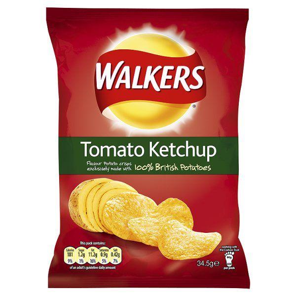 Tomato Ketchup Crisps.