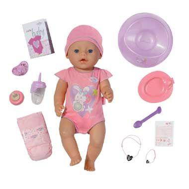BABY born interactieve pop met 8 functies - roze