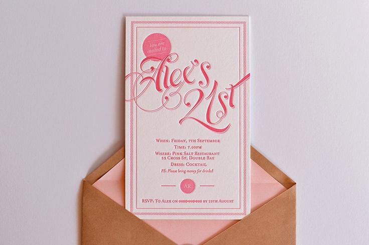 21st Invitations - Work - Elle Williams | Design, Branding, Web