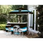 Best of Times Carolina Panthers All-Weather Patio Bar Set with 6 ft. Umbrella
