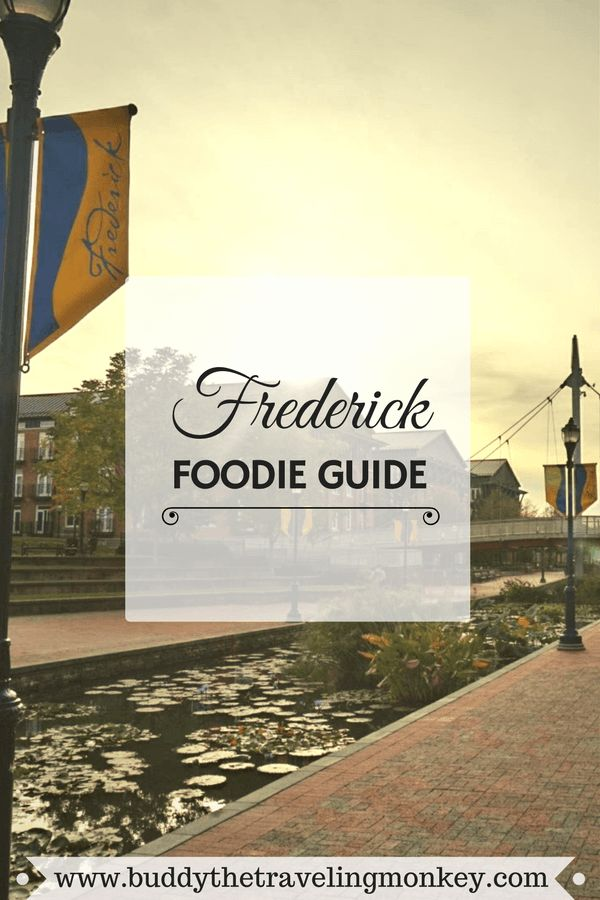Less than an hour from Washington DC and Baltimore is Frederick, Maryland. With over 30 restaurants in its historic downtown district, Frederick should be on every foodie's list of places to visit.