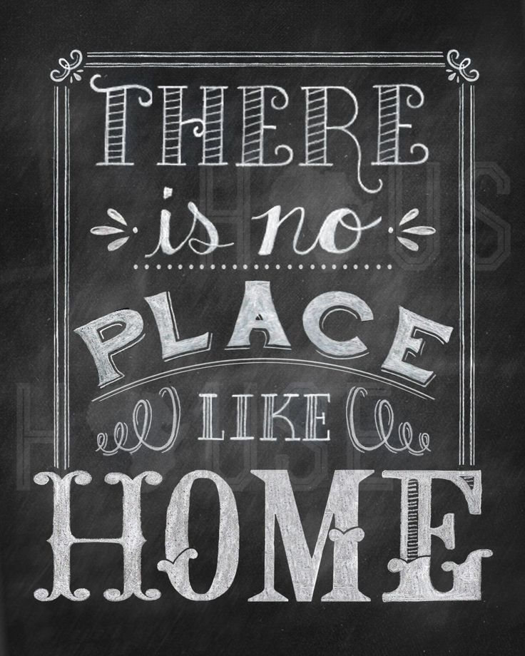 there is no place like home chalkboard print door kendrahouse quotes pinterest places. Black Bedroom Furniture Sets. Home Design Ideas