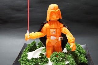 Vader Veggies: Darth Vader, Carrots Darth, Stars War Food, Vegetables, Sushi Chef, Veggies, Food Photo, Kid, Starwars