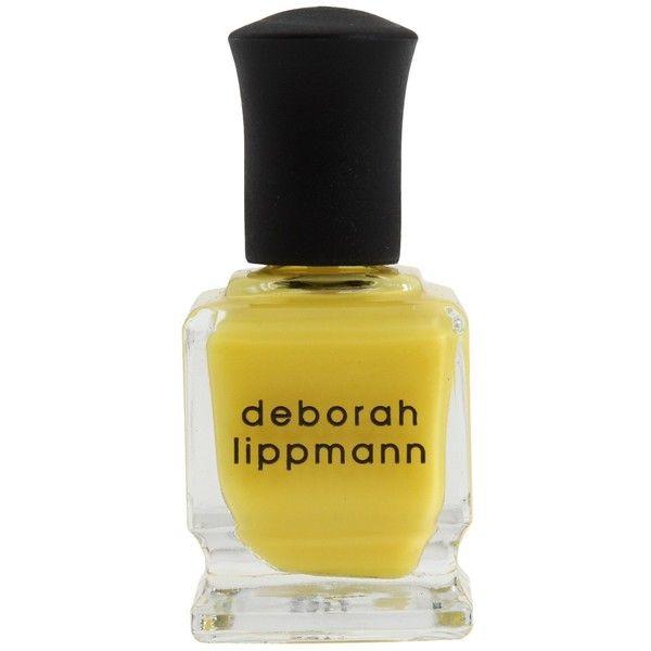 Deborah Lippmann Nail Polish ($5.40) ❤ liked on Polyvore featuring beauty products, nail care, nail polish, yellow, deborah lippmann, deborah lippmann nail polish, deborah lippmann nail lacquer and deborah lippmann nail color
